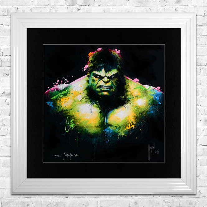 Patrice Murciano HULK Limited Edition Framed Liquid Artwork Signed with Limited Edition Number