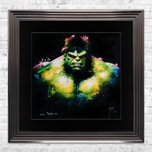 HULK Limited Edition Framed Liquid Artwork Signed with Limited Edition Number