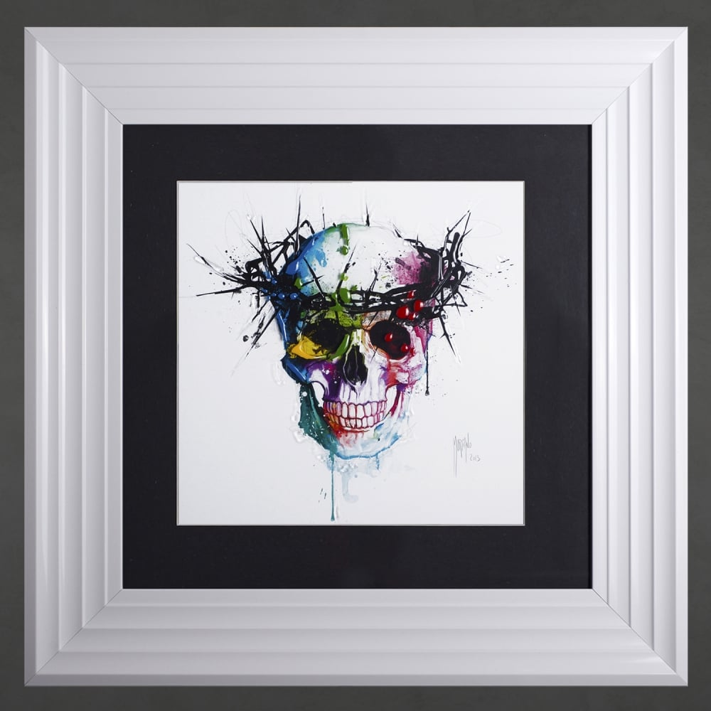 Patrice Murciano Jesus Skull Thorns Framed Artwork 55cm x 55cm