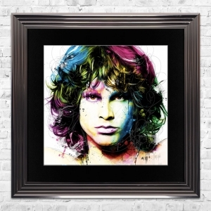 Jim Morrison Limited Edition Framed Liquid Artwork Signed with Limited Edition Number