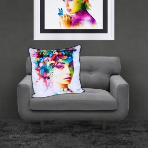 Patrice Murciano L'effet Papillion Luxury Feather Filled Cushion | 55cmx 55cm