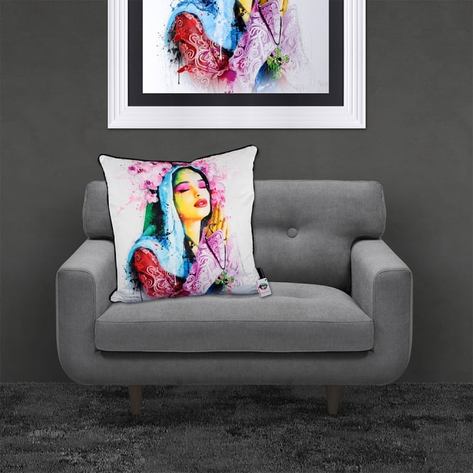 Patrice Murciano Licensed 55cm Luxury Feather Filled Cushion - FAITH 'PRAYING WOMAN'