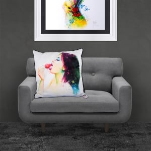 Patrice Murciano Licensed 55cm Luxury Feather Filled Cushion - Fruity Kiss