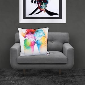 Patrice Murciano Licensed 55cm Luxury Feather Filled Cushion - PRESTON 'DENIM BUM'