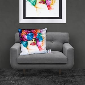 Patrice Murciano Licensed 55cm Luxury Feather Filled Cushion - Roses