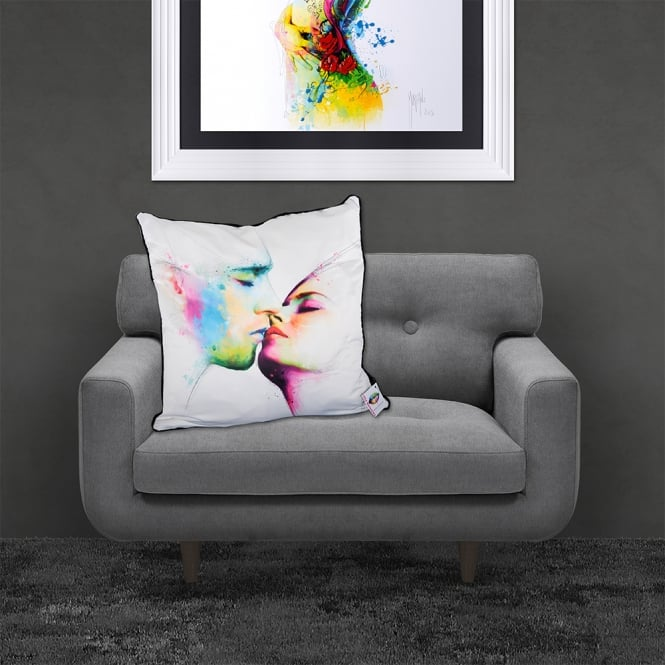 Patrice Murciano Licensed 55cm Luxury Feather Filled Cushion - THE KISS 'FACES'