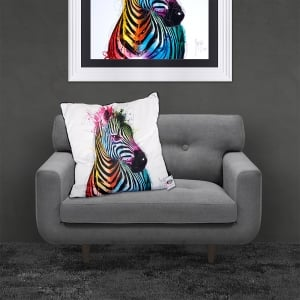 Patrice Murciano Licensed 55cm Luxury Feather Filled Cushion - ZEBRA POP