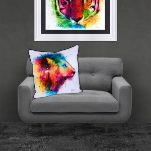 Patrice Murciano Lion Luxury Feather Filled Cushion | 55cmx 55cm