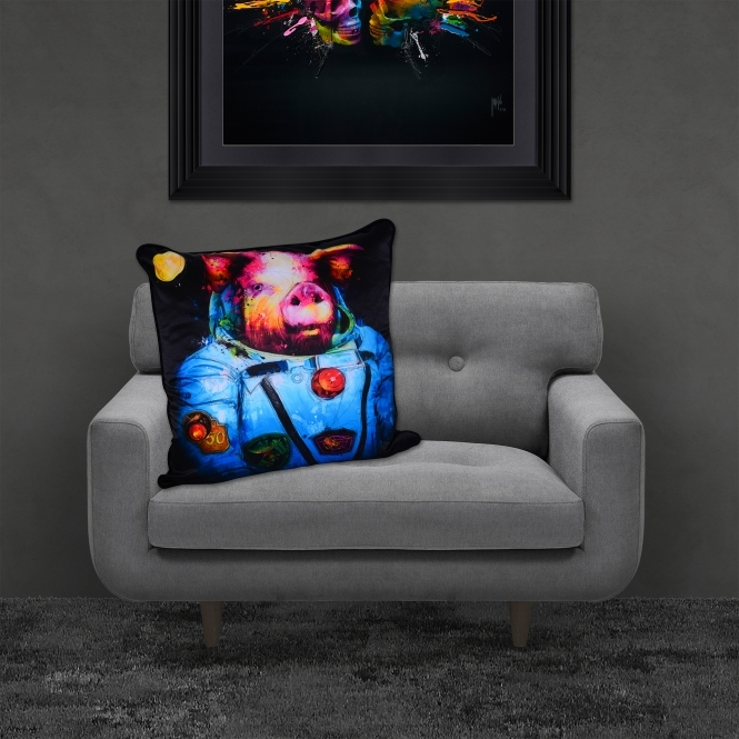 Patrice Murciano Pig In Space Luxury Feather Filled Cushion | 55cmx 55cm