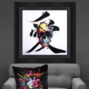 Patrice Murciano Pirate Skull Framed Artwork 90cmx90cm