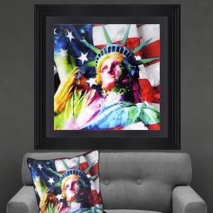 Patrice Murciano Statue of Liberty Framed Artwork 90cm x 90cm