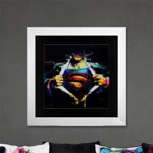 Superman Limited Edition Framed Liquid Artwork Signed with Limited Edition Number