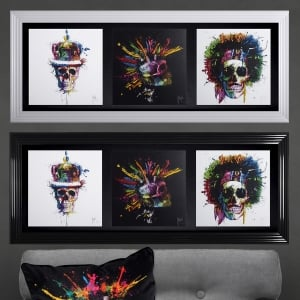 Patrice Murciano The Three Skulls Framed Picture 117cm x 50cm