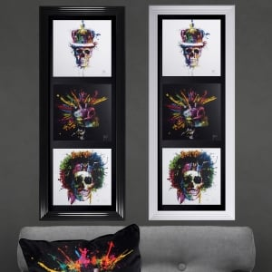 Patrice Murciano The Three Skulls Framed Picture 50cm x 117cm