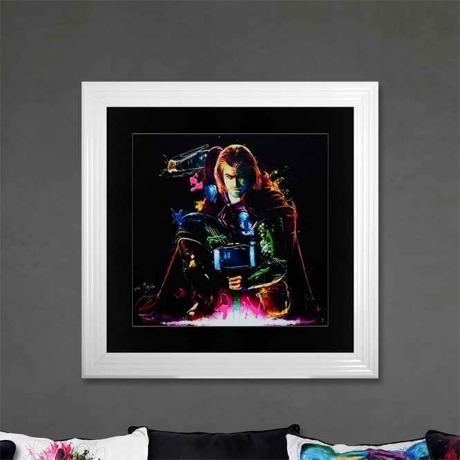 Patrice Murciano Thor Limited Edition Framed Liquid Artwork Signed with Limited Edition Number
