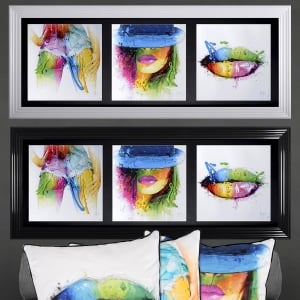 Patrice Murciano Three Women Framed Picture 117cm x 50cm
