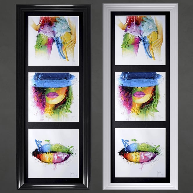 Patrice Murciano Three Women Framed Picture 50cm x 117cm