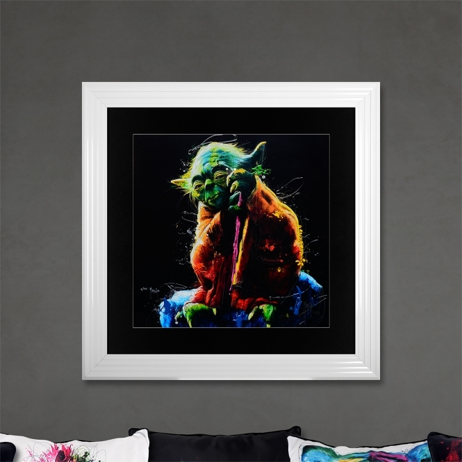 Patrice Murciano Yoda Limited Edition Framed Liquid Artwork Signed with Limited Edition Number
