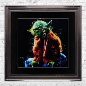 YODA Limited Edition Framed Liquid Artwork Signed with Limited Edition Number
