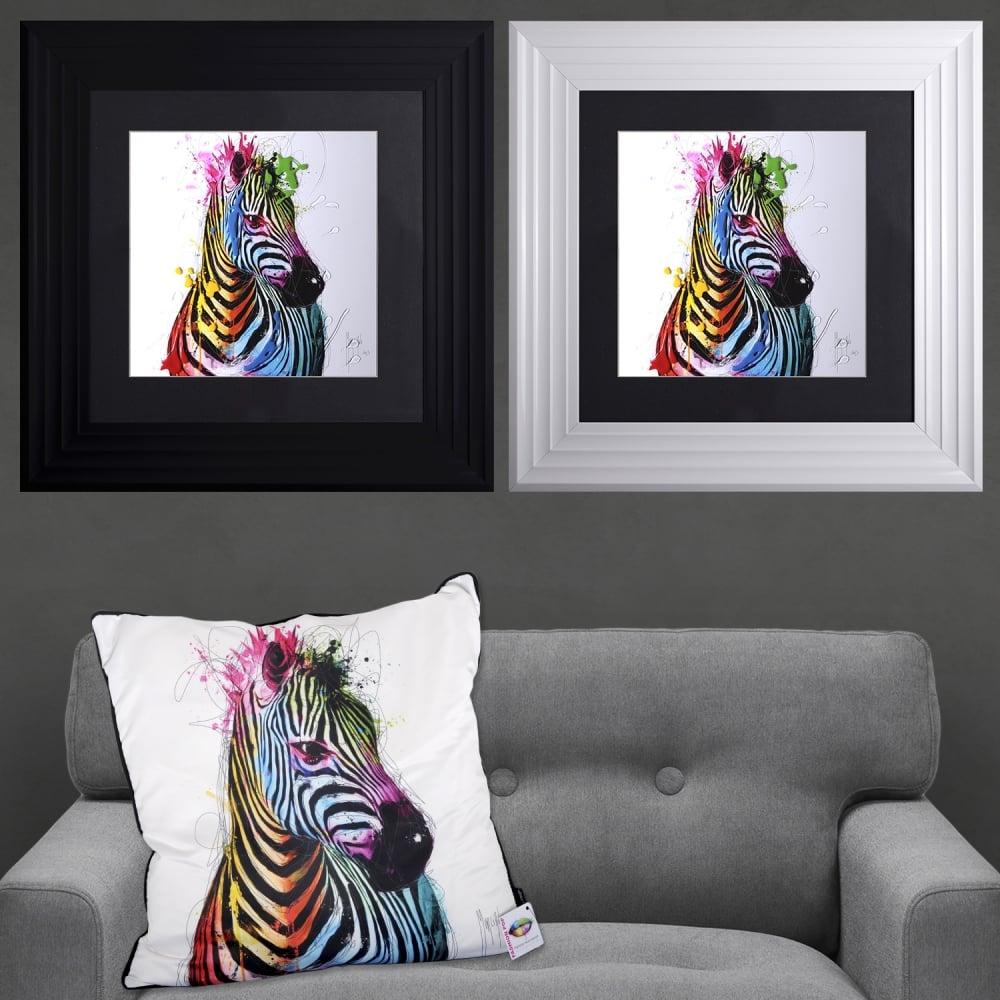 Patrice Murciano Zebra Framed Artwork 55cm x 55cm