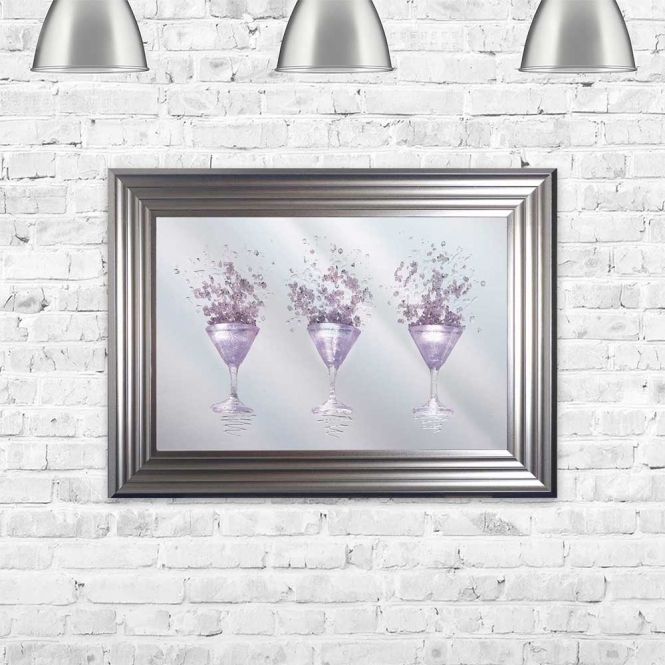 PINK MARTINI MIRROR FRAMED WALL ART
