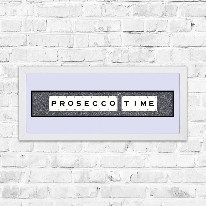 The Playing Card Co. Prosecco Time Gun Glitter Framed Playing Cards