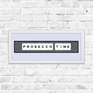 Prosecco Time Gun Glitter Framed Playing Cards