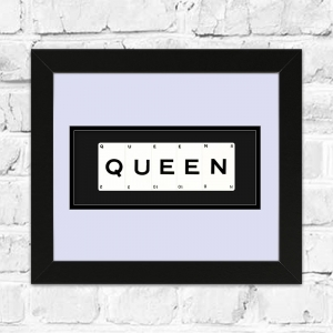 QUEEN Framed Playing Cards