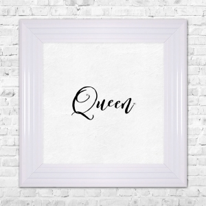 QUEEN Print Framed Liquid Artwork and Swarovski Crystals