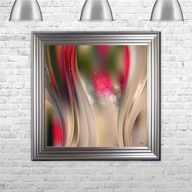 RED WAVE FRAMED WALL ART