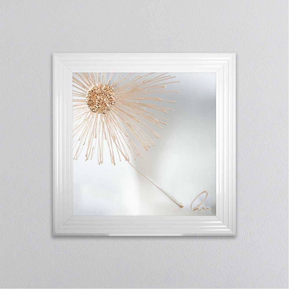 SHH INTERIORS ROSE GOLD CRUSHED GLASS DANDELION BLOWING ...
