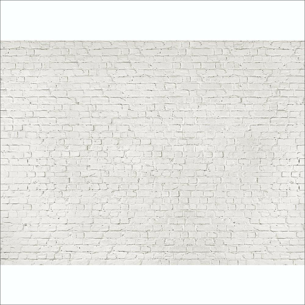 Rustic White Brick Wall Mural