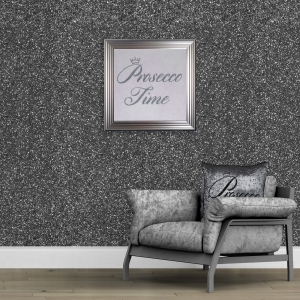 148cm Wide- Gun Metal Glitter Fabric Wall Covering