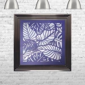 3D UV LEAVES 2 MIRROR | LIQUID ART | 75cm x 75cm