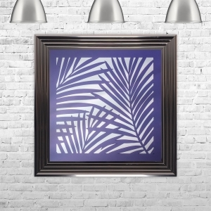 3D UV LEAVES MIRROR | LIQUID ART | 75cm x 75cm