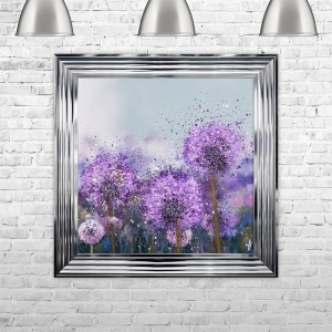 ALLIUM Glitter Liquid Art with Crushed Glass Cluster | 75cm x 75cm