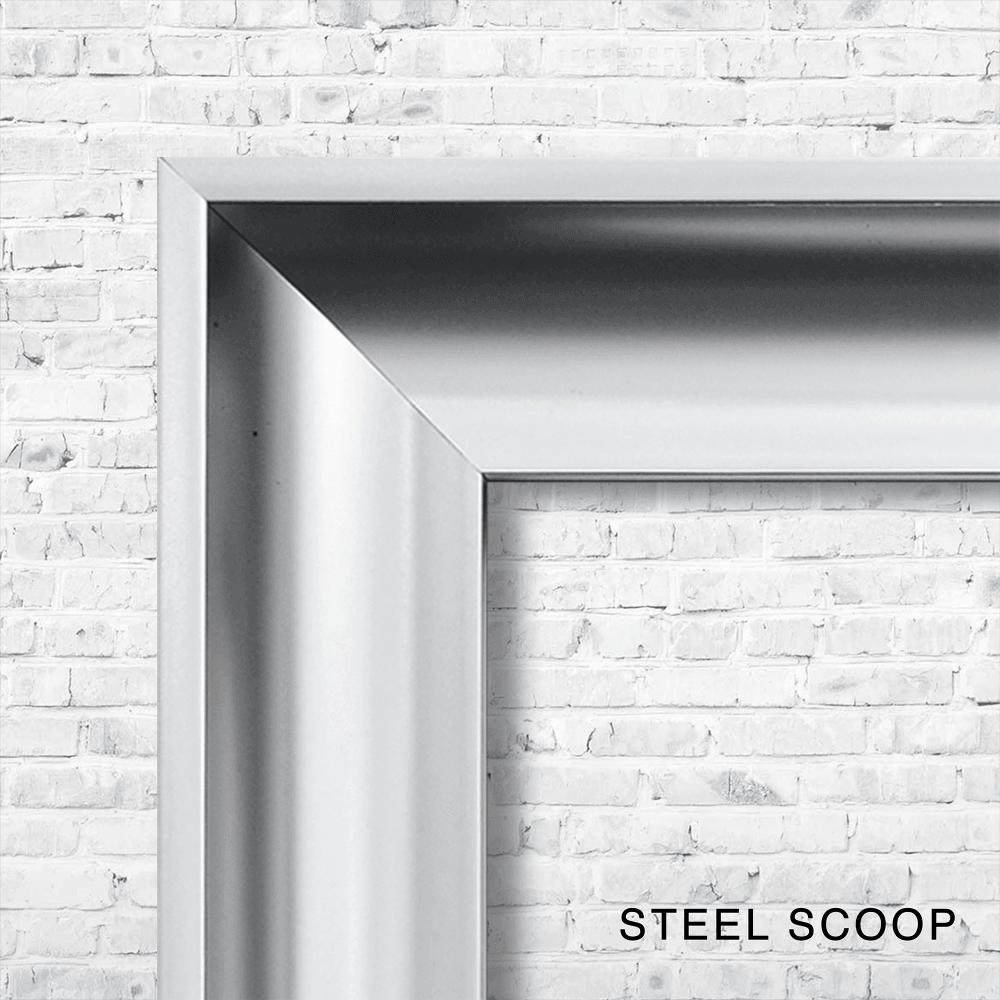 Aluminium Cluster Panel White Framed Art | 114cm x 74cm
