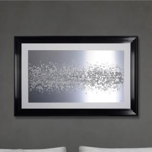 Aluminum Panel Hand Made with Liquid Glass and Swarovski Crystals 114 x 74 cm