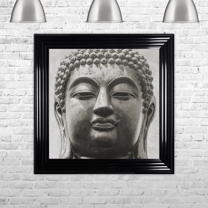 SHH Interiors Buddha 2 Artwork Hand Made with Liquid Glass and Swarovski Crystals 75 x 75 cm