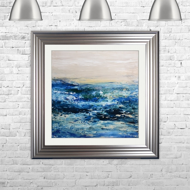SHH Interiors COAST 1 Framed Liquid Artwork | 75cm x 75cm
