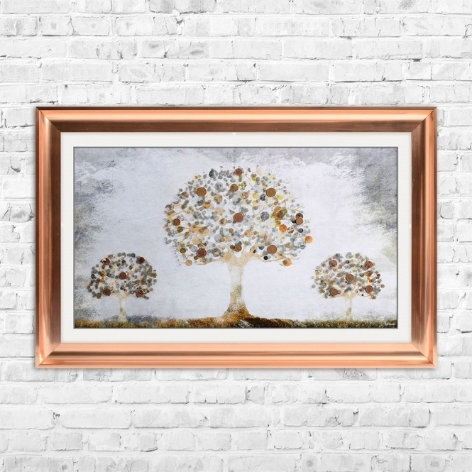SHH Interiors Copper Money Tree with coins | 114cm x 74cm