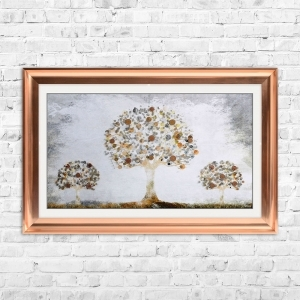 Copper Money Tree with Copper Coins | 114cm x 74cm