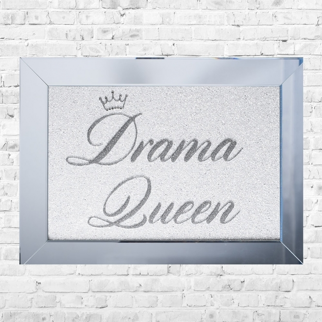 SHH Interiors Drama Queen Framed Liquid Artwork and Swarovski Crystals