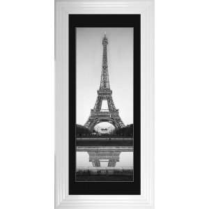 Eiffel Tower Framed Glitter Liquid Art With Black Mount 115cm x 55cm