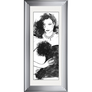 Fashion Lady Pose 1 Framed Glitter Liquid Art With White Mount 115cm x 55cm