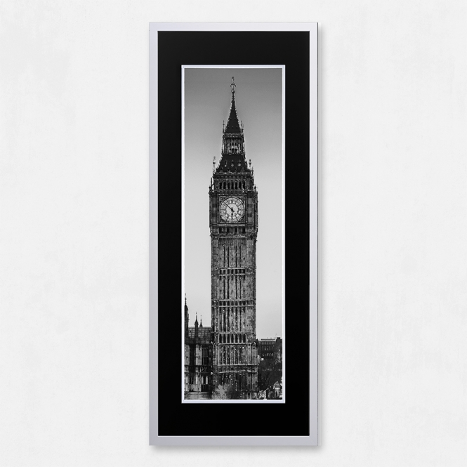 SHH Interiors Framed Big Ben with Liquid Glass and Swarovski Crystals 40 x 100cm