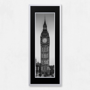 Framed Big Ben with Liquid Glass and Swarovski Crystals 40 x 100cm