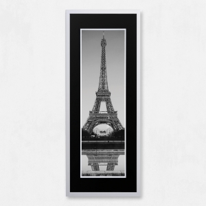 Framed Eiffel Tower with Liquid Glass and Swarovski Crystals 40 x 100cm