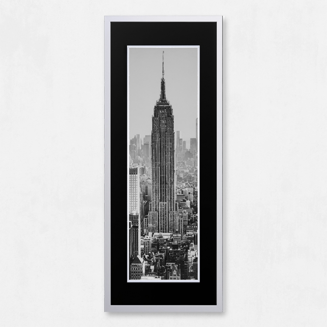 SHH Interiors Framed Empire State Building with Liquid Glass and Swarovski Crystals 40 x 100cm