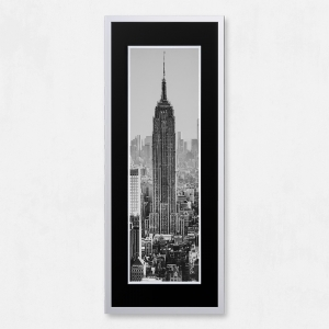 Framed Empire State Building with Liquid Glass and Swarovski Crystals 40 x 100cm